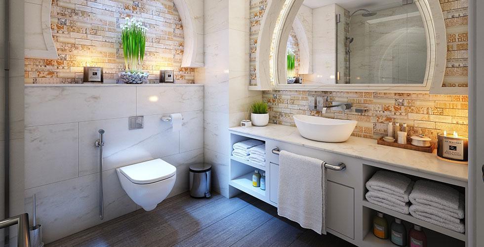 Beautiful Bathroom with Skylight