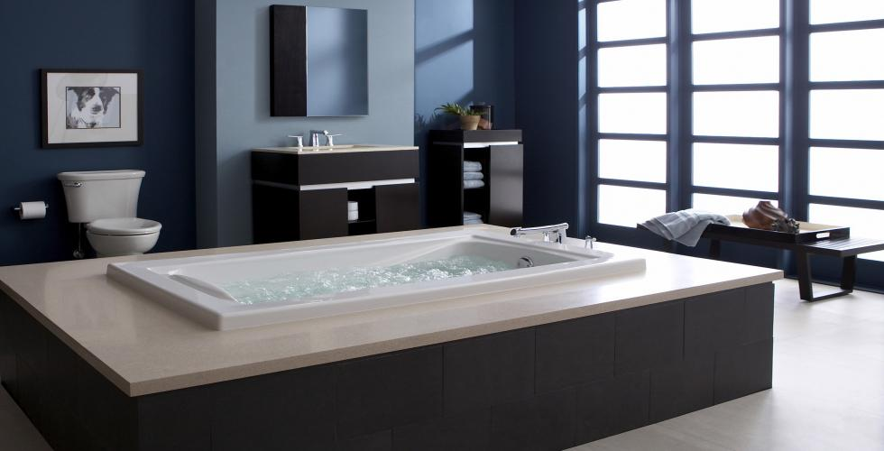 Our plumbing service can install this raised bathtub